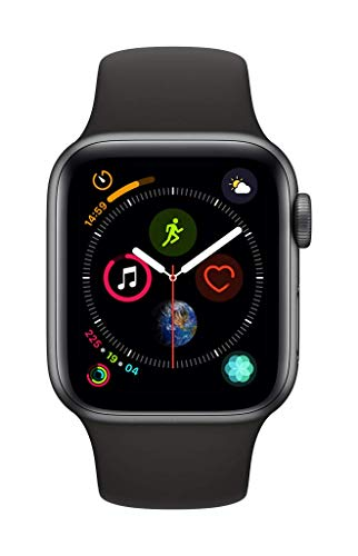Apple Watch Series 4 (GPS, 40mm) Aluminiumgehäuse Space Grau - Sportarmband Schwarz - 2