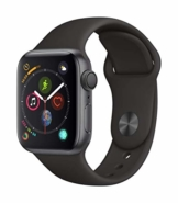 Apple Watch Series 4 (GPS, 40mm) Aluminiumgehäuse Space Grau - Sportarmband Schwarz - 1