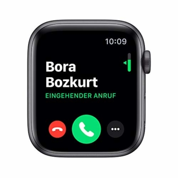 Apple Watch Series 5 (GPS, 44 mm) Aluminiumgehäuse Space Grau - Sportarmband Schwarz - 3