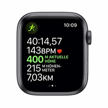Apple Watch Series 5 (GPS, 44 mm) Aluminiumgehäuse Space Grau - Sportarmband Schwarz - 4