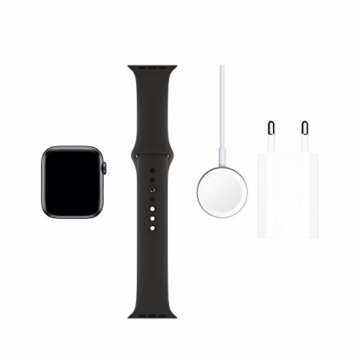 Apple Watch Series 5 (GPS, 44 mm) Aluminiumgehäuse Space Grau - Sportarmband Schwarz - 6